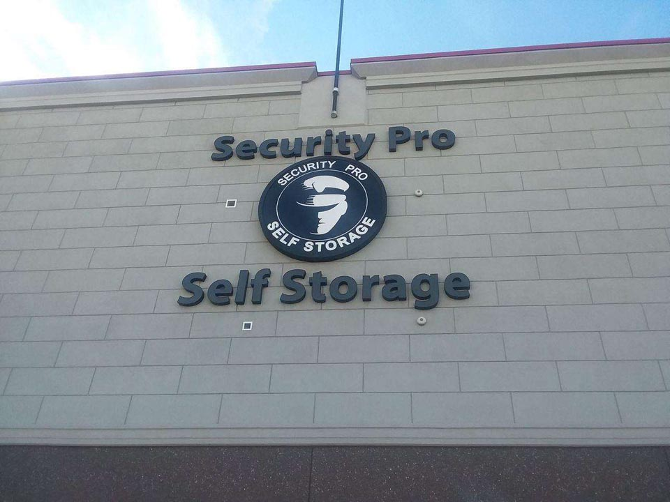 Exterior signage for Security Pro Self Storage