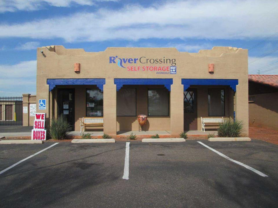 Entrance to River Crossing Self Storage office