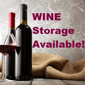Wine storage available