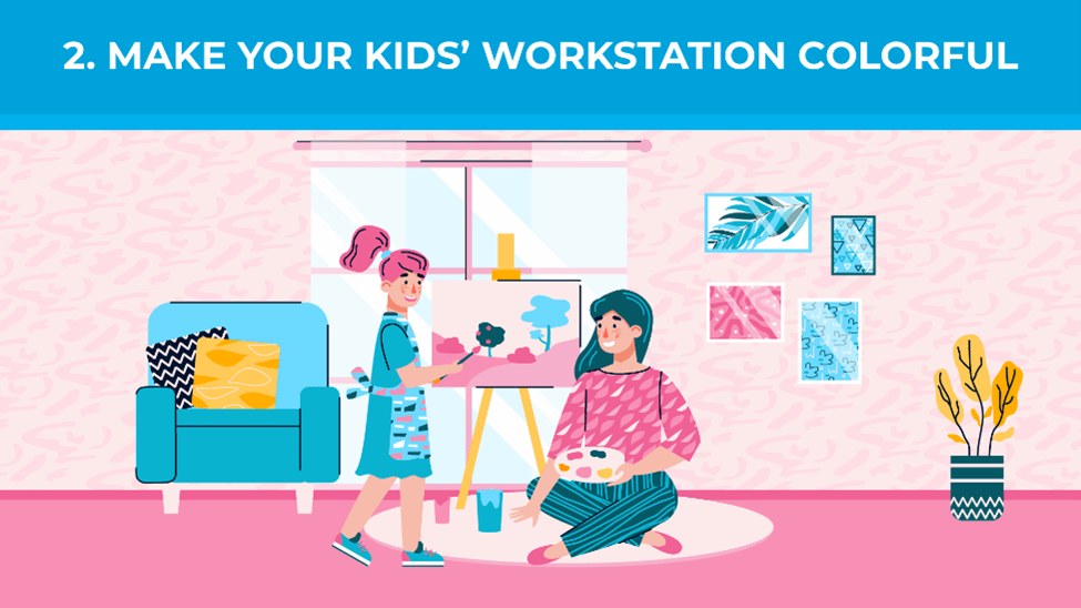 Make Your Kids' Workstation Colorful