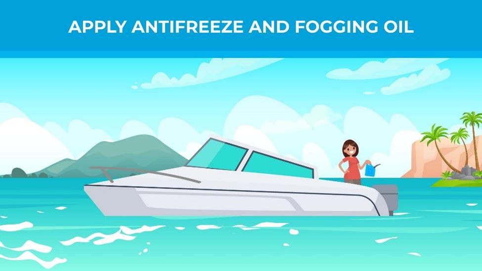 Apply antifreeze and fogging oil