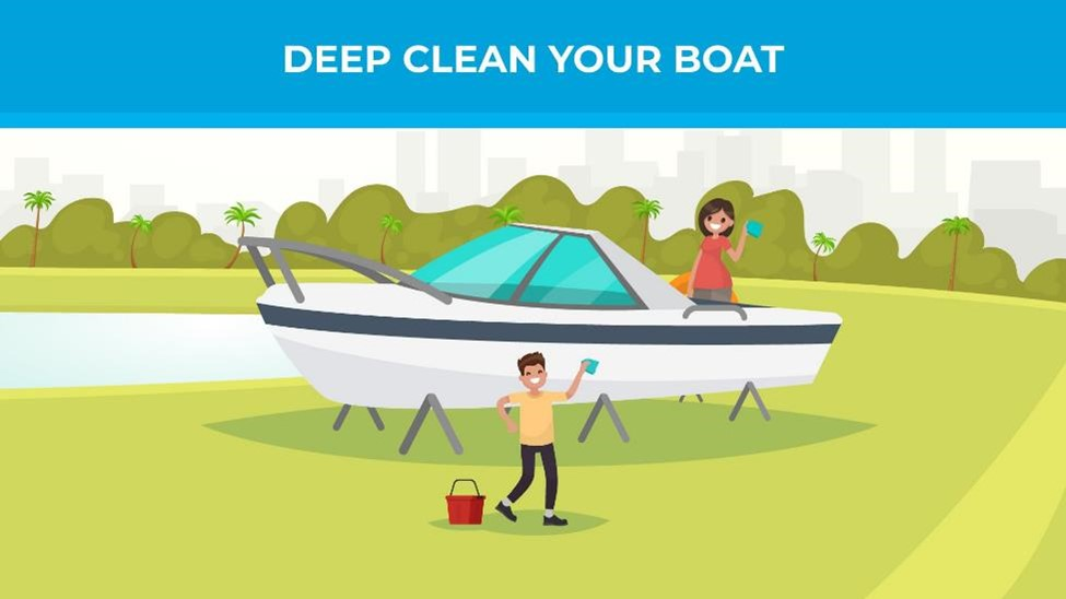 Deep clean your boat