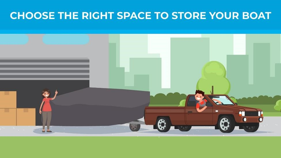 Choose the right space to store your boat